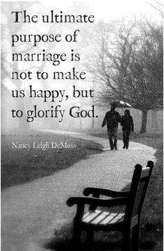 Glorify The Lord first in your marriage.