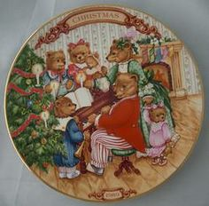 Avon Together for Christmas Collector Plate Bears