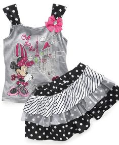 Nannette Baby Set, Baby Girls Minnie Mouse Tank Top and Scooter Skirt - Kids - Macys