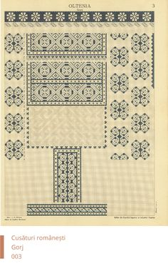 Gorj Decoration Folk Embroidery, Embroidery Patterns, Cross Stitch Patterns, Machine Embroidery, Antique Quilts, Blackwork, Needlepoint, Projects To Try, Sewing