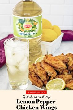 #LiptonPartner #Ad These Lemon Pepper Chicken Wings are quick and easy to make. These wings are drizzled in melted butter, garlic, and fresh lemon juice. This is the perfect weeknight meal to pair with Lipton® Diet Green Tea Citrus from @liptonUS. #LiptonPrepairedMeals #PerfectTeaPairing Lemon Pepper Chicken Wings, Green Tea Diet, Lipton, Fresh Lemon Juice, Melted Butter, Weeknight Meals, Fried Chicken, Chicken Recipes, Garlic