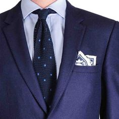 Linen Pocket Square with Knitted Silk Tie