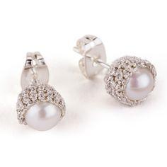 9ce835833 Pearl Stud Earrings by Atelier Godolé Pearl Studs, Pearl Stud Earrings,  Beaded Earrings,
