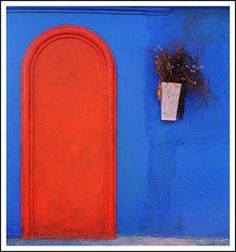 Orange & Blue Entry