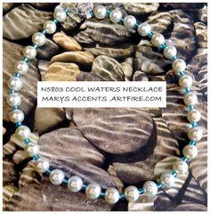 Cool Waters Necklace by MaryAccentsYou on Etsy, $25.00