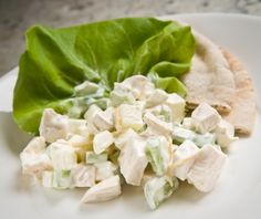 The perfect lunch: Chicken Waldorf Salad Sandwiches. Diabetes-friendly recipe includes all nutritional information and diabetes exchanges.