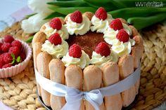 Tort bez pieczenia Cakes And More, Tiramisu, Great Recipes, Cheesecake, Goodies, Food And Drink, Menu, Cooking Recipes, Pudding