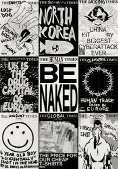 """imgltd: """" THE 2013 TIMES: Great project by Amsterdam based designer @Marius Jopen who created a poster-a-day in response to the daily news visualizing events happening in the world 2013 — view all the..."""