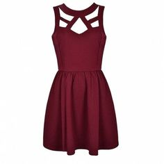 CUT OUT SKATER DRESS Ally Fashion (590 MXN) ❤ liked on Polyvore featuring dresses, vestidos, robes, short dresses, skater dress, cut-out skater dresses, purple dress and purple cut out dress