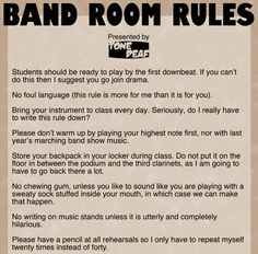 Band Room Rules — Tone Deaf