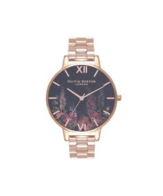 Ladies Dark Bouquet Rose Gold Bracelet Watch | Olivia Burton London | Olivia Burton US