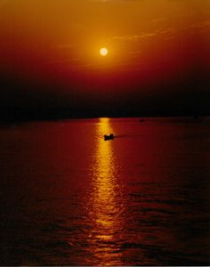 Sunset on the Ganges River