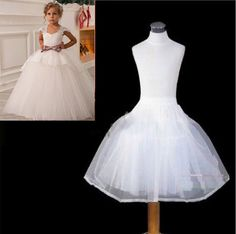 >> Click to Buy << 2017 New Children Petticoats Wedding Bride Accessories Little Girls Crinoline White Kid Long Flower Girl Formal Dress Underskirt #Affiliate