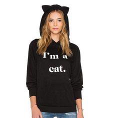 I'm A Cat Hoodie Sweatshirt With Cat Ears