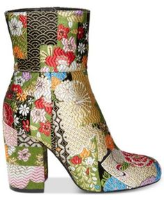 a008a796845 Steve Madden Goldie Block-Heel Booties Shoes - Boots - Macy s