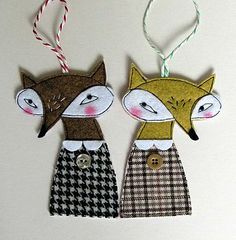 Christmas Fox Hanging Decoration