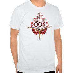 Eat Sleep Breathe Books 2 Sided T Shirt, Hoodie Sweatshirt
