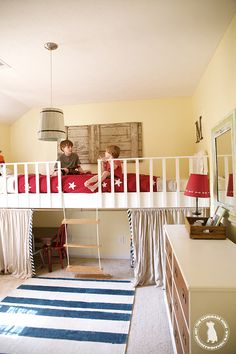 Double loft bed the boys would love this! | the handmade home