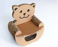 Image result for cardboard Furniture for kids
