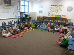 "Up and down the scale using Boomwhackers and the ""Snowman Song""; great stomp activity, too!"