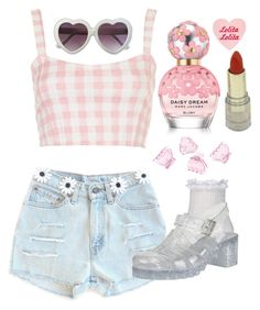 """His Favorite Flavor"" by doe-eyed-nymphet ❤ liked on Polyvore featuring Motel, River Island, H&M, Marc Jacobs, Pink, nymphet and nymphetfashion"