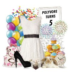 """""""Happy Birthday Polyvore!!"""" by mayanag ❤ liked on Polyvore featuring Polaroid, Laura Ashley and AngelEye"""