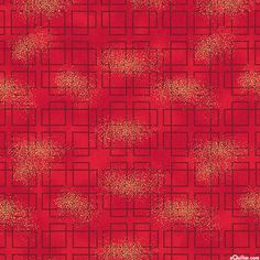 Asian Traditions - Rectangular Knots - Lacquer Red/Gold