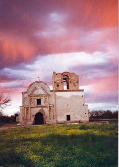 Tumacacori mission, near Tubac, AZ-- GGG grandfather Augustin Ortiz is buried in the entrance.