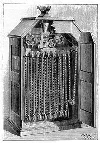 KINETOSCOP.  Kinetoscopul este inventat și realizat de Edison în anul 1890 și prezentat pentru prima dată la Expoziția Mondială de la Chicago. . Deplasare se făcea cu o frecvență de 46 imagini pe secundă.  . Începe producerea lui în serie din 1893. Edison a făcut și o încercare de sonorizare a filmulețelor, asociind kinetoscopul cu o altă invenție de a lui fonograful. Pentru durata filmulețelor, circa 1 minut, a fost o mare reușită, ținând cont și de tehnologiile de atunci.