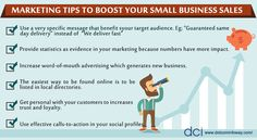 Are you looking for better ways to boost your small business marketing?  Here are few marketing ideas to boost Your Small Business Sales!