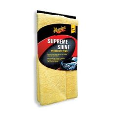 #2: Meguiar's Supreme Shine Microfiber Cloths (Pack of 3).