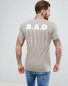 ASOS Muscle T-Shirt With Bad Habits Print