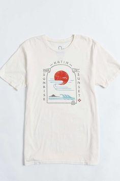Katin Serenity Tee tshirt - Graphic Shirts - Ideas of Graphic Shirts - sunrise to sunset graphic tee illustration T Shirt Designs, Shirt Print Design, Tee Design, T Shirt Graphic Design, Graphic T Shirts, Printed Shirts, T Shirt Custom, T Shirt World, T Shirt And Shorts