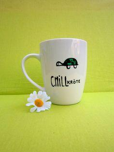 Tasse für Chill Kröten Geschenk zum chillen von hochdietassen via dawanda.com
