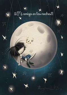Good night moon lovely things moon good night moon y stars Good Night Funny, Good Night Moon, Spanish Quotes, Stars And Moon, Anime, Funny Pictures, Night Pictures, Tumblr, Abstract