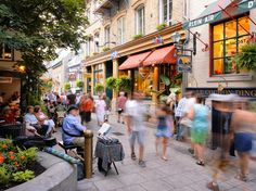 A European atmosphere flavors the Quartier Petit Champlain in Quebec City's Old Town. [Photo by Yves Marcoux, Getty Images]