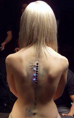 Cyberpunk, liquid latex, electronics
