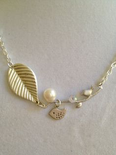 Bridal Bird and Pearl Necklace by joytoyou41 on Etsy, $35.00
