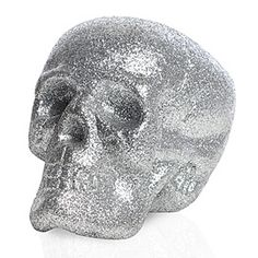 Glitter Skull. How cool to have one at the wedding party table?? I have to incorporate at least one glitter skull in my wedding!