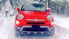 The stormy winter weather didn't matter to Lisa on her weekend mission. She would be driving the 2016 Fiat 500X AWD Trekking or the 'tractor' as she's been calling it all week. (Garry Sowerby)