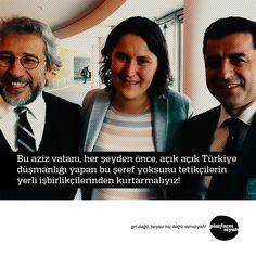 Bu aziz vatanı, her şeyden önce, açık açık Türkiye düşmanlığı yapan bu şeref yoksunu tetikçilerin yerli işbirlikçilerinden kurtarmalıyız!