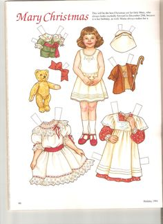 1991 MARY CHRISTMAS Her Birthday is December 25  Artist Theresa Boreli for Martha Pullen Company 1 of 2