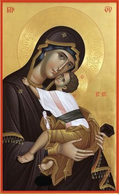 Virgin and Child // Mary and Jesus Christ // Mater Dei // Byzantine Icons, Byzantine Art, Religious Icons, Religious Art, Christ The Good Shepherd, Spray Paint Art, Spray Painting, Painting Art, Church Icon