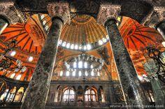 Love this image of the Hagia Sophia in Istanbul! Unique perspective