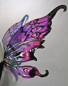 Nimue Painted Iridescent Fairy Wings. $125.00, via Etsy.