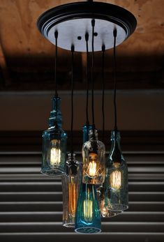Upcycled Lamps and Lighting Ideas | Ideas para, Bottle and Bar on industrial lighting ideas, gold lighting ideas, homemade lighting ideas, modern lighting ideas, blue lighting ideas, creative lighting ideas, cute lighting ideas, custom lighting ideas, inexpensive lighting ideas, path lighting ideas, pinterest lighting ideas, antique lighting ideas, diy lighting ideas, cool lighting ideas, recycled lighting ideas, do it yourself lighting ideas, reclaimed lighting ideas, zen lighting ideas, diy pendant light ideas, patriotic lighting ideas,