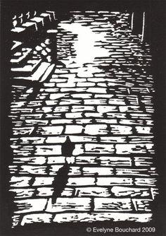 Venetian Pigeon \/ Original Linocut Print by Evelyn Bouchard http://www.etsy.com/shop/evelynebouchard