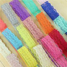 Encaje de Cinta Cinta 1.5 cm ancho DIY Bordado Neto Tela de Encaje Para La Decoración de Costura regalo decoraciones de la boda 10 yardas/lot
