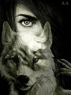 L Wolf Images, Wolf Pictures, Fantasy Wolf, Fantasy Art, Wolf Tattoos, Hawk Tattoo, Wolves And Women, Wolf Artwork, Good Night Gif