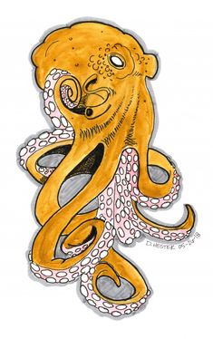 Octopus drawing by Darren Hester | Doodle Addicts
